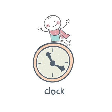 business people: Man and clock