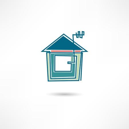 Real estate icon Illustration