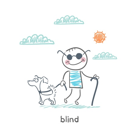 blind dog: blind