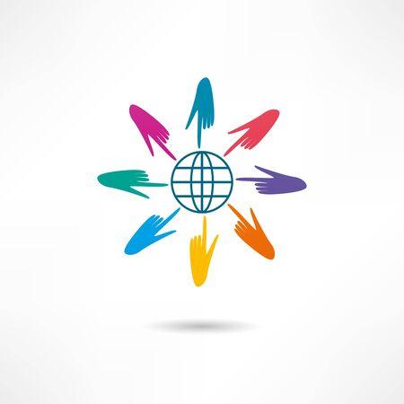 icono de red Ilustración de vector