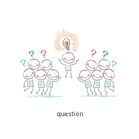 Questions Stock Vector - 18558030