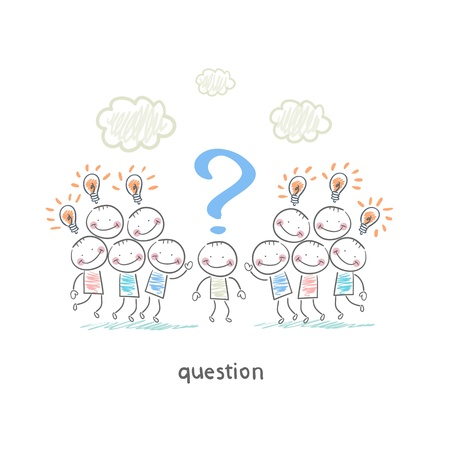 Preguntas Ilustración de vector