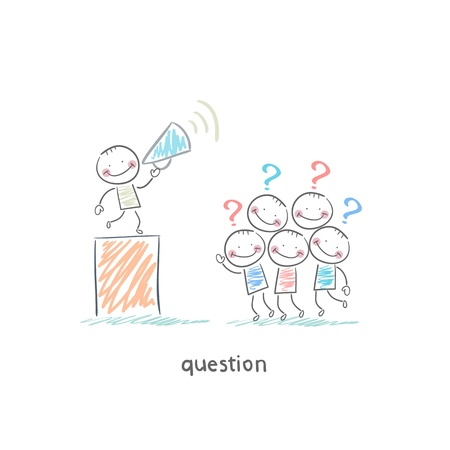 Questions Stock Vector - 18557829