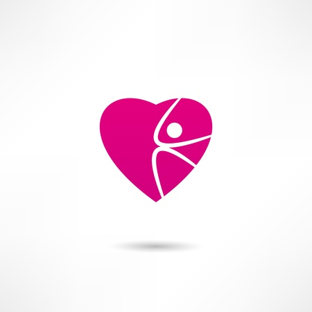 Athletic heart icon Vector