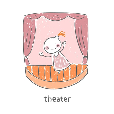performing arts event: Actor in the theater