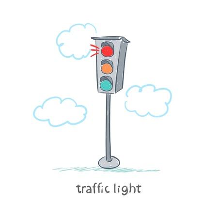crossing the road: traffic light