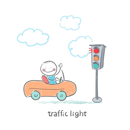 traffic light Stock Vector - 18558031