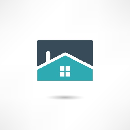 home clipart: Real estate icon Illustration