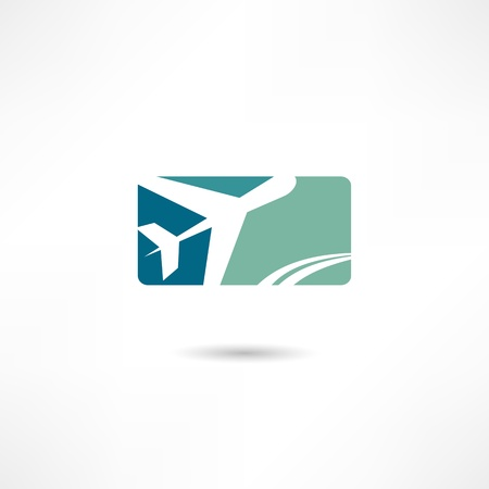 passenger airline: airplane symbol Illustration