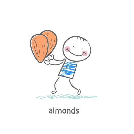 Almonds and people