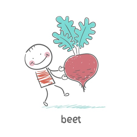 beet root: Beet and man