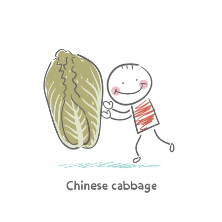 Chinese cabbage and the man