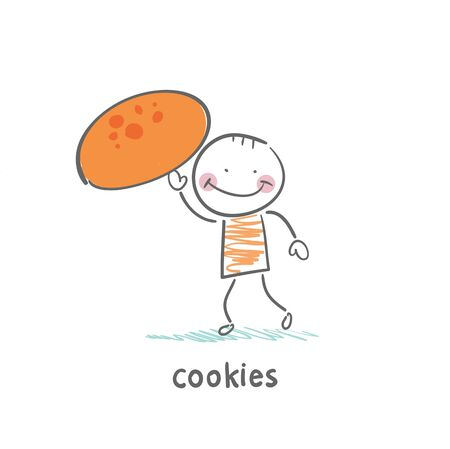 chocolate chip: Cookies Illustration