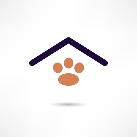 dog house icon Stock Vector - 18694135