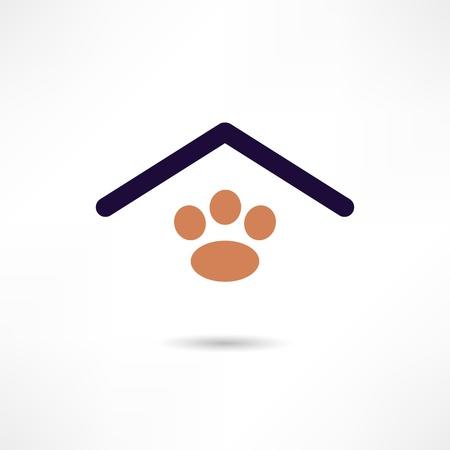 casa de perro: perro de la casa icono