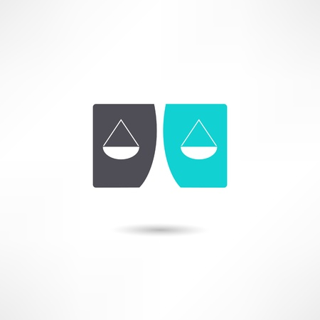 scale icon: Justice icon Illustration