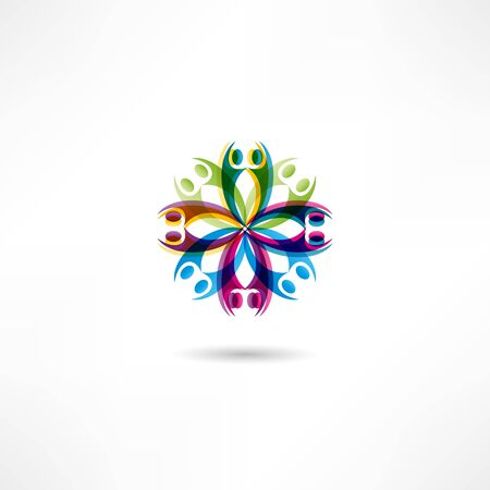 linked hands: hands connecting icon Illustration
