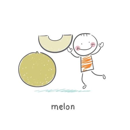 melon and man
