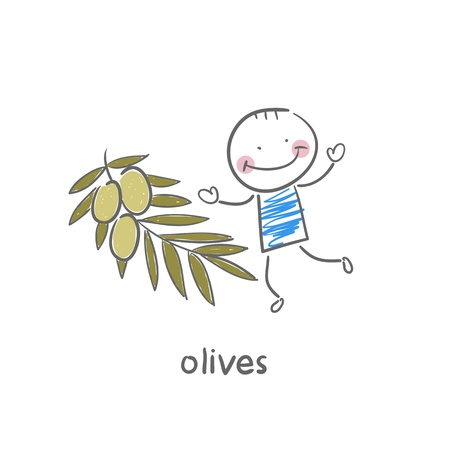 Olives and people Stock Vector - 18694243