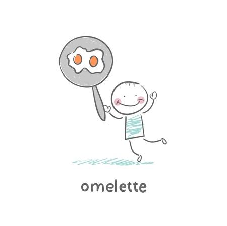 Omelette Stock Vector - 18694240
