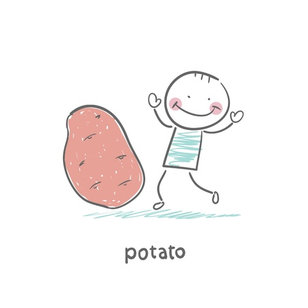 Potatoes and people Illustration
