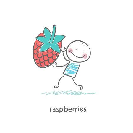 healty food: Raspberries and people