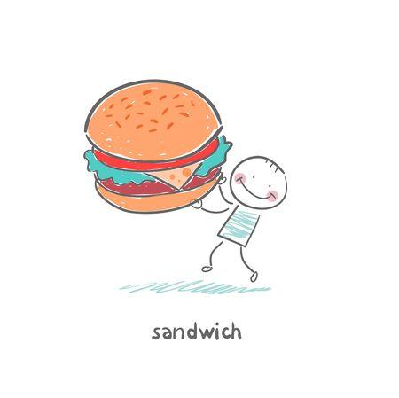 サンドイッチ  イラスト・ベクター素材