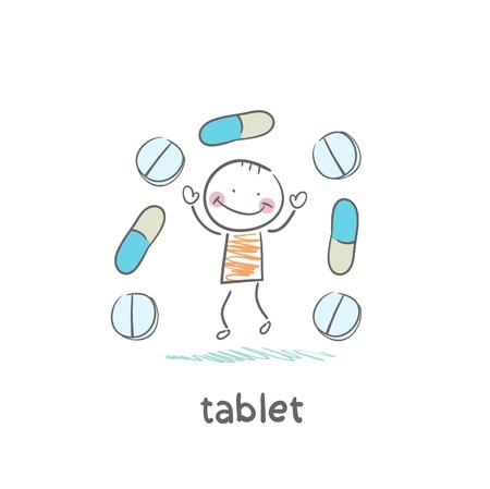 Medical pills Stock Vector - 18694265