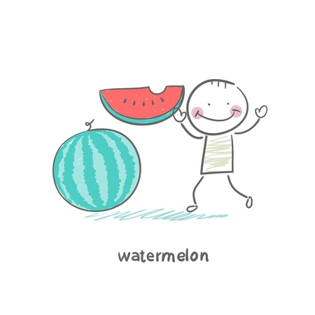 indulgence: Watermelon and people