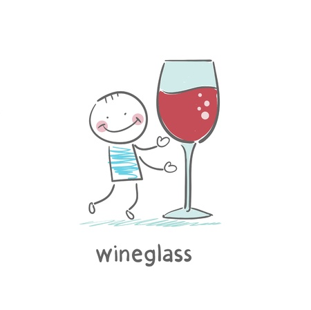 winetasting: Glass of wine