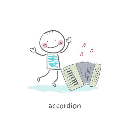Man and accordion photo