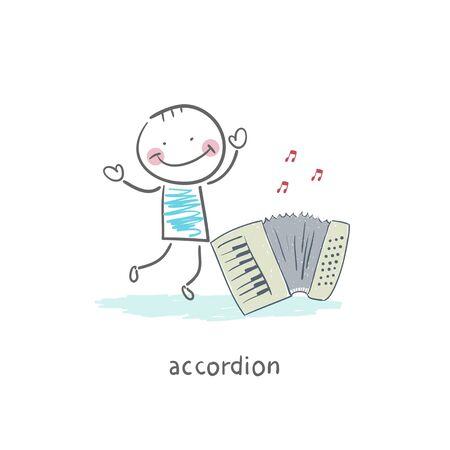 accordion: Man and accordion