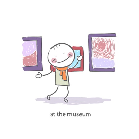 art gallery: Man at the Museum