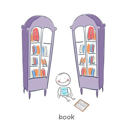 reader: Reader of books. Illustration.