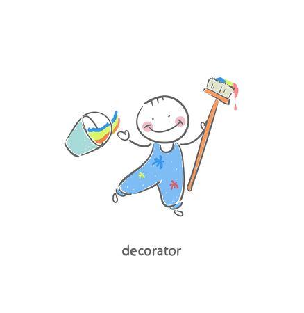 decorator: Decorator. Illustration. Stock Photo