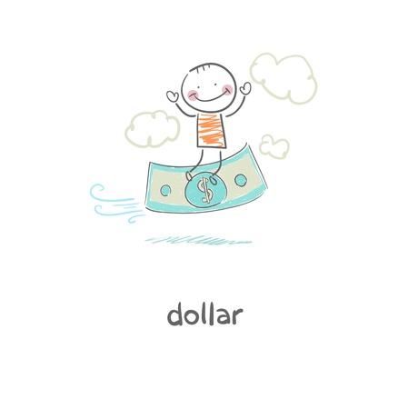 Man and money. Illustration. Stock Illustration - 18716799