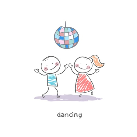 latin americans: Dancing couple