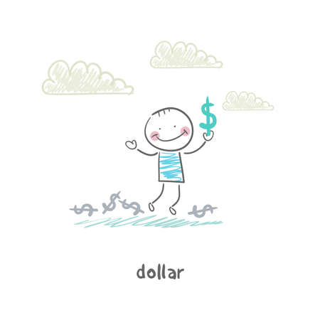 My dollars. Illustration. illustration