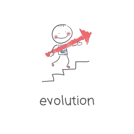 Evolution career. Illustration illustration