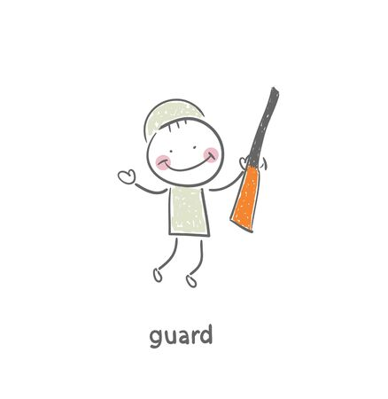 Guard. Illustration. illustration