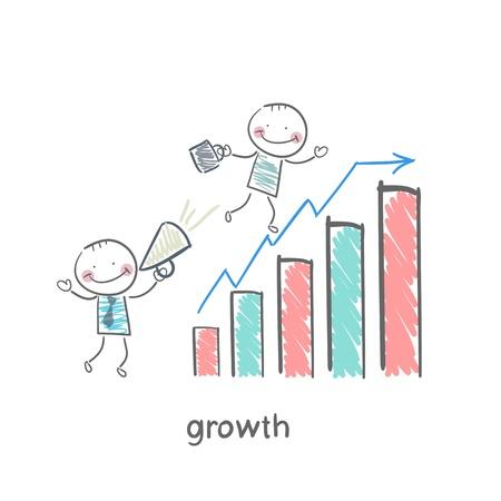 Planen des Gewinnwachstums Standard-Bild