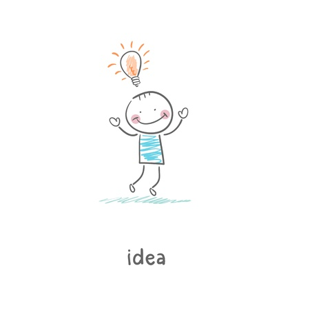 Ideas. Illustration. illustration