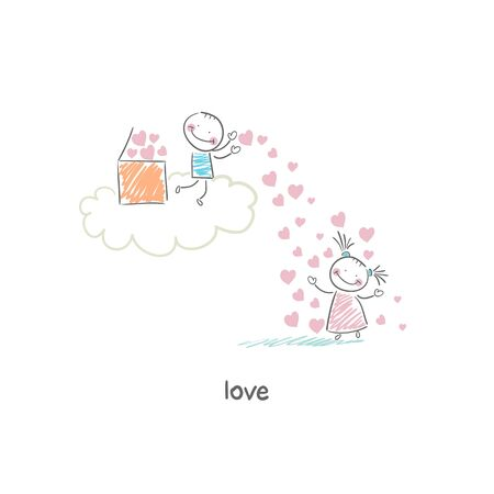Lovers. Illustration. Stock Illustration - 18716739