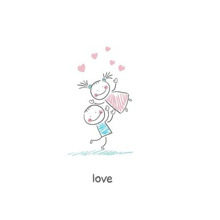 Lovers. Illustration. Stock Illustration - 18716573
