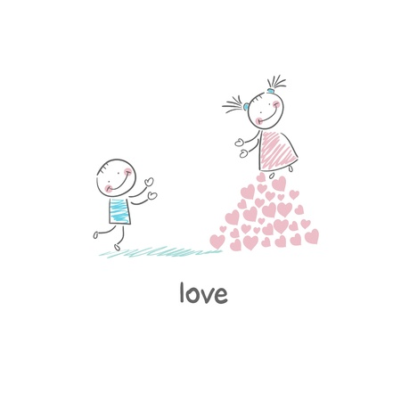 Lovers. Illustration. Stock Illustration - 18716713