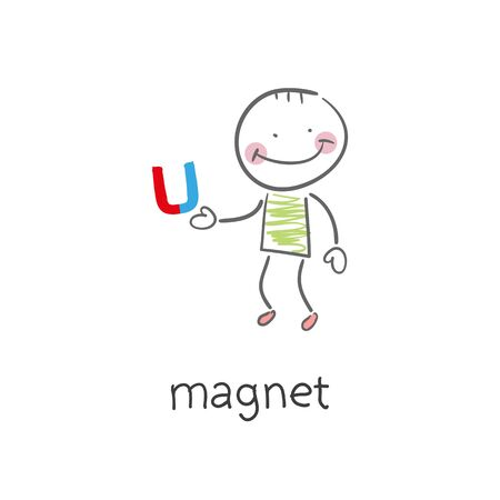 polarity: Magnet. Illustration. Stock Photo