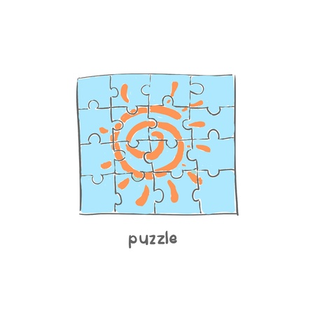 Puzzle. Illustration. Stock Illustration - 18716915