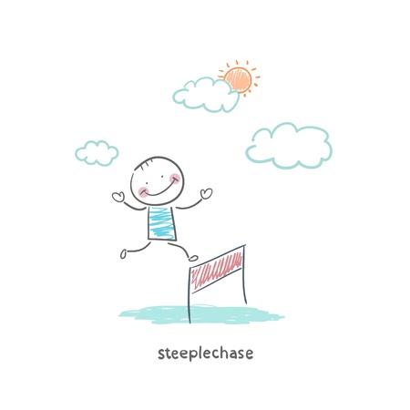 tourney: Steeplechase Stock Photo