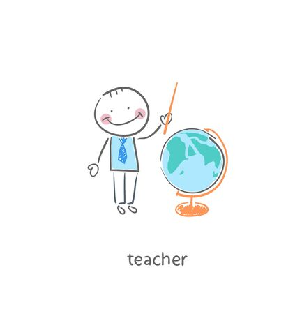 Teacher. Illustration. illustration