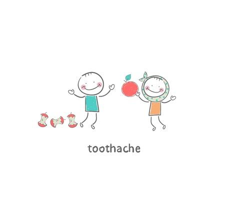 Toothache. Illustration. Stock Illustration - 18716651